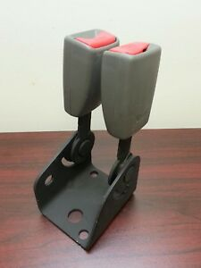 Gm Chevrolet Trailblazer Rear Dual Seat Belt Receiver 2002 2009 Oem Gray