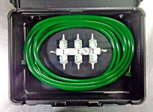 Precision Medical Pm106 Oxygen Supply Manifold With Hose In Case