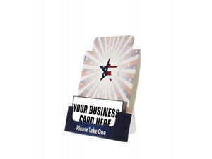 Business Card Holder Stand Or Bulletin Board Distribution Drop Off Card Holder