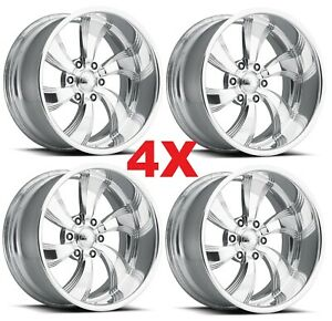 18 Pro Billet Wheels Rims Twisted Killer 6 Line Mags Aluminum American
