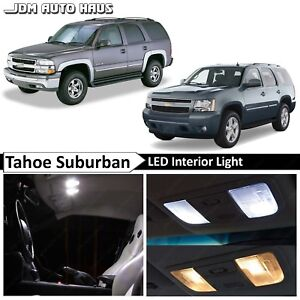 20x Bulb White Interior Led Lights Fits Chevy Tahoe Suburban Gmc Yukon 2000 2014