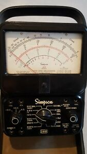 Simpson 260 Series 6 Multimeter For Parts Or Repair