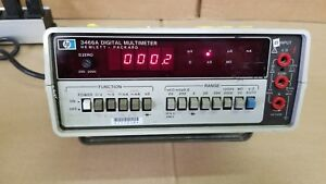 Hp 3466a Digital Multimeter Powers Up Recharge Option