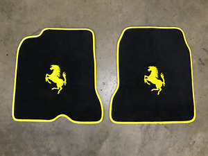 Ferrari 08 14 California Custom Car Floor Mats Yellow Logo Edging Top Quality