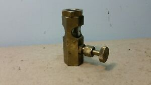 Vintage Brass Steam Boiler Engine Sight Glass Petcock Drip Oiler Hit Miss