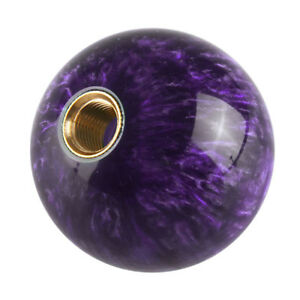 Universal Car Gear Shift Knob Shifter Lever Purple Ball Shape M12 1 25mm