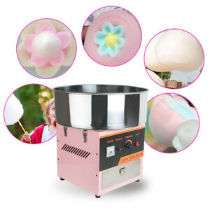 Electric Cotton Candy Machine Floss Maker Commercial Carnival Party Pink 110v