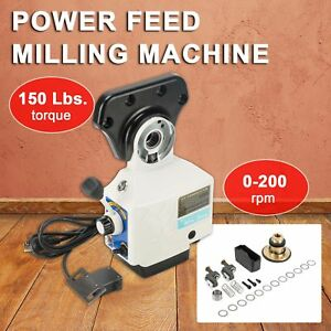 Pro Milling Machine Power Feed Power Table Feed X axis 150 Lb Torque 110v