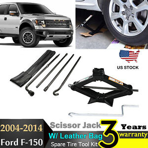 Spare Tire Lug Wrench Wheel Remove Repair Tool Scissor Jack For 04 14 Ford 150