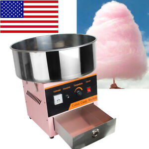 Electric Cotton Candy Machine Floss Maker Festival Carnival Party Pink Children