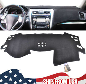 Dash Mat Dashmat Black Carpet Cover For Nissan Altima 2013 2018 Auto Dashboard