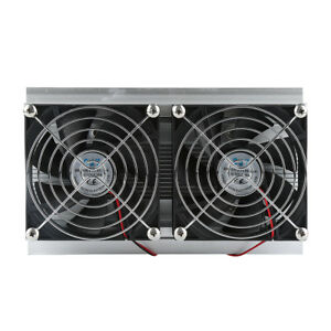 12v Thermoelectric Peltier Refrigeration Cooling System Kit Cooler Double Fan Dr