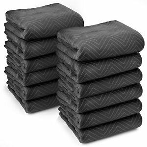 Sure max 12 Moving Blanket Furniture Pads Ultra Thick Pro 80 X 72 Black