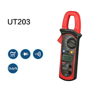 Ni t Ut203 Digital Ac dc Clamp Multimeter Current Voltage Meter Tester Lead 10m