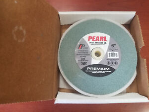 Pearl Abrasive 6x3 4x1 Bench Grinding Wheel Green Silicon Carbide
