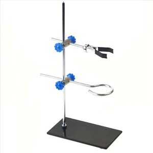 30cm Height Stand Retort Iron Stand With Clamp Clip Lab Ring Flask Laboratory