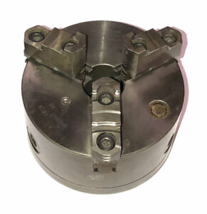6 Bison 3 jaw Lathe Chuck 3285 6 2 8 Threaded Mount W Top Jaws South Bend