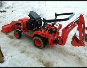 Kubota Tractor Red Color And In Good Condition