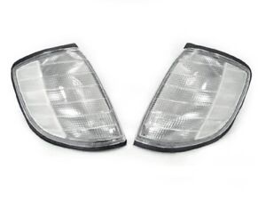 Depo Euro Clear Corner Lights Lamps Set Fit 1992 1999 Mercedes Benz W140 S Class