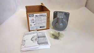 New In Box Hubbell Hbl430rs1w Insulgrip Pin Sleeve Receptacle 30 Amp 250 Vdc