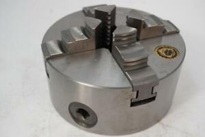 New Bison Poland 5 4 Jaw Self Centering Lathe Scroll Chuck Flat Back 825
