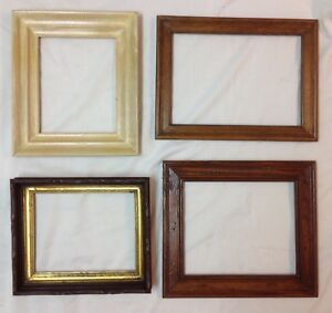 Lot 4 Vintage Wooden Picture Frames 7 X 9 And Larger