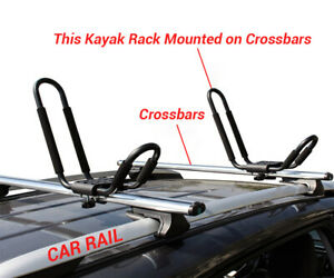 2 Pair Canoe Boat Surf Kayak Carrier J Roof Top Mount Rack J Cross Bar Car Truck