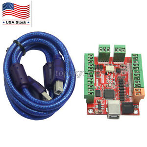 Cnc Usb Card Mach3 100khz Breakout Board 4 Axis Driver Motion Controller Us Ship