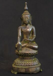 18th Century Antique Bronze Buddha From Burma Antique Buddha Statues