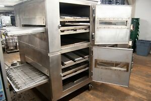 Conveyor Pizza Ovens Gas Double Stack Refurbished