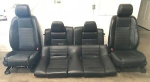 2013 2014 Ford Mustang Gt 5 0 Leather Seats Front Rear Black Oem