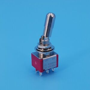 Sh T8011 lk 6pin Dpdt Locking Lever On on 2 Position Mini Toggle Switch