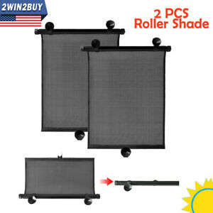 Retractable Car Auto Side Window Baby Sun Shade Shield Cover Roll Curtain Visor