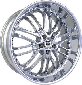 4 Gwg Wheels 20 Inch Chrome Amaya Rims Fits Mitsubishi Lancer Evolution 2008