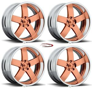 19 Pro Wheels Rims Magg Custom Forged Billet Intro Foose American Rose Gold
