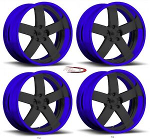 20 Pro Billet Wheels Rims Magg Forged Candy Blue