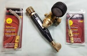 Used Goss Regulator And Nrp Torch B tank Acetylene And 2 New Turbo Torch Tips