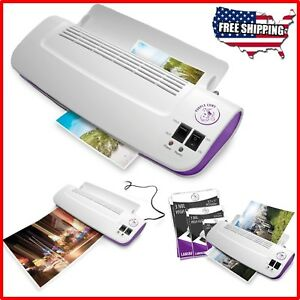 Hot Cold Laminator Thermal Machine With 100pc Pockets Laminating Pouches Sheets