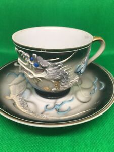 Emerson China Dragon Tea Cup And Saucer Hand Painted Vintage 6 Pcs Available