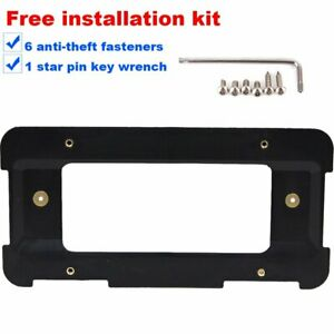 Rear License Plate Holder Bracket For Land Rover 6 Anti theft Screws Wrench