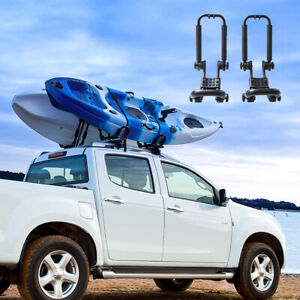 1 Pair Kayak Carrier Roof Rack Canoe Paddle Board For Suv Truck Car W Straps