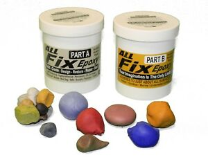 All fix Epoxy Putty 2 pint Seal Repair Plug Build Blend Adhere Indoor Outdoor