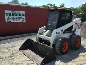 1998 Bobcat 863 Skid Steer Loader W Aftermarket Cab