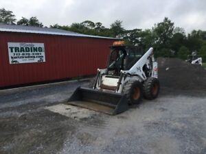 1998 Bobcat 873 Skid Steer Loader W Aftermarket Cab