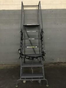 Triarc 7 Step Steel Safety Angle Rolling Ladder 70