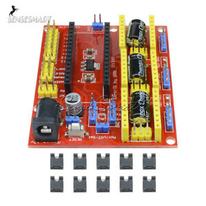 Engraving Machine Cnc Shield V4 Stepper Motor Driver For Arduino Grbl