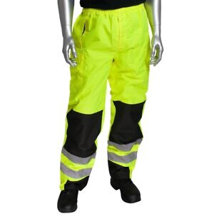 Pip Class E Reflective Waterproof Safety Over pants Yellow lime