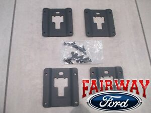 15 Thru 19 F 150 Oem Ford Tie Down Bed Cleat Standard Interface Plate 4 pc Kit