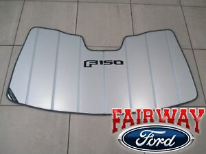 15 Thru 19 F 150 Oem Ford Sun Shade Screen With f 150 Logo And Storage Bag New
