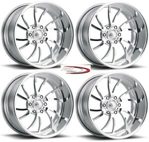 22 Pro Wheels Rims Forged Billet Aluminum Scorpion 6 Twisted Directional Blade